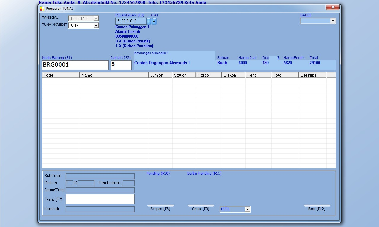 free download gratis software toko aksesoris program aplikasi database