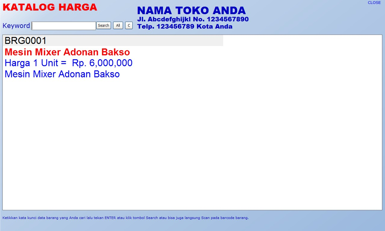 free download gratis software toko mesin program aplikasi database
